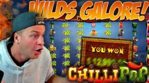 Chilli Pop Slot WILDS GALORE! (large Win)