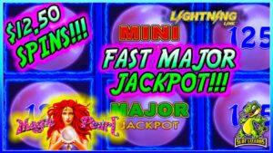 FAST MAJOR JACKPOT large WIN!!! Magic Pearl Lightning Link Slot Machine BATTLE TO THE goal!