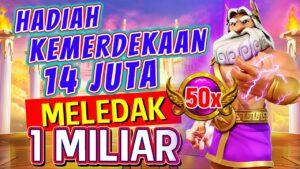 Gate of Olympus Mega large Win Menang 1M Sensasional Modal 14 juta