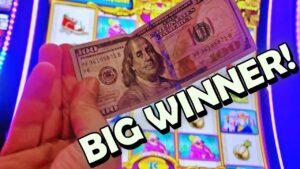 I pose $100 inwards A SLOT MACHINE GOT A MAJOR JACKPOT!!! -novel Las Vegas casino bonus Slot Machine large Win Bonus