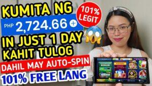 SI AUTO-SPIN ANG MAGTATRABAHO SAYO | EARN P2,724 SA ISANG ARAW LANG! WALANG PUHUNAN | WITH PROOF!