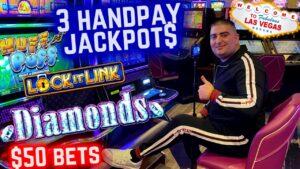 3 HANDPAY JACKPOTS On High boundary Slot Machines   Winning large Money At Casinos inward Las Vegas ! portion-2