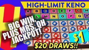 large WIN! High-bound KENO Plus MRS. QH #JACKPOT! #KENONATION