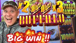 novel SLOT 💥 large WIN featuring WILD WILD BUFFALO Slot Machine