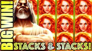 ★large WIN!★ STACKS & STACKS! WILD WILD EMERALD & KRONOS UNLEASHED Slot Machine (Aristocrat Gaming)