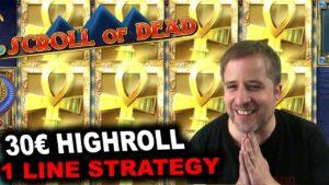 🔥1 LINE STRATEGY🔥 | Scroll of Dead Playngo casino bonus large Win Highroll Freespins Bonus Gambling