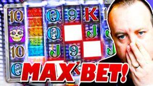 HUGE MAX BET BONUS on DANGER Slot!!! (High Stakes Slots)