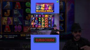 HUGE WIN ON BUFFALO Rex SLOT / large WINS casino bonus GAMES / FREESPINS hither