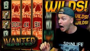 INSANE WIN on Wanted Dead or a Wild Slot!