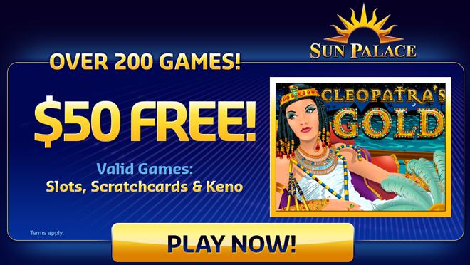Sun Palace: 200 bepul qadar xush kelibsiz bonus 000 o'yinlari ustidan