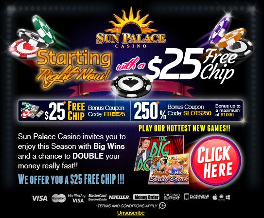 Sun Palace Casino BEPUL jip bilan ishga tushirish