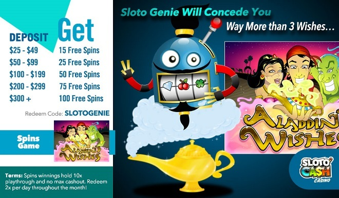 Sloto'Cash Free Spins Bonus