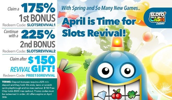 Sloto'Cash 0 Bonus Percuma
