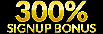 300 Bonus% Daftar