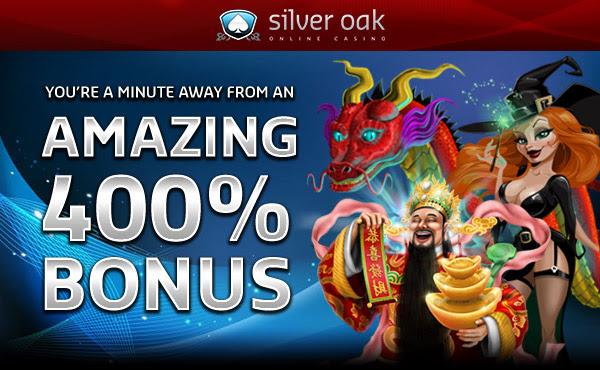 400% bónus þín bíður enn eftir þér hjá Silver Oak!