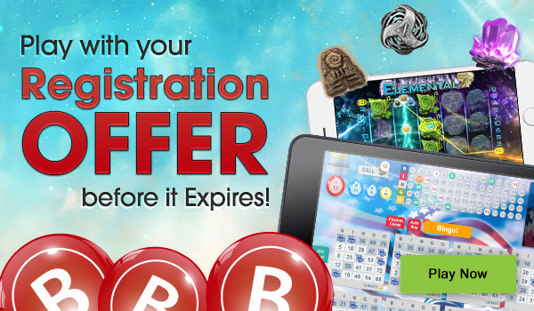 Play with your registration offer at Downtown Bingo before it expires!