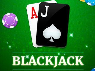 Estrategias de blackjack y fichas.