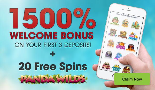 Masivni 1500% paket dobrodošlice + 20 Free Spins