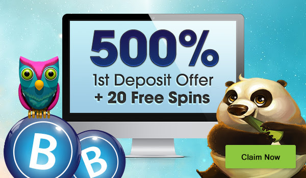 Masivan 500% bonus dobrodošlice + dodatni 20 besplatni obrtaji