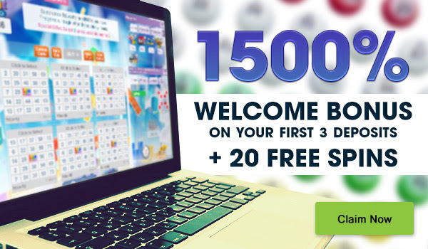 A massive 1500% welcome bonus + 20 Free Spins Extra