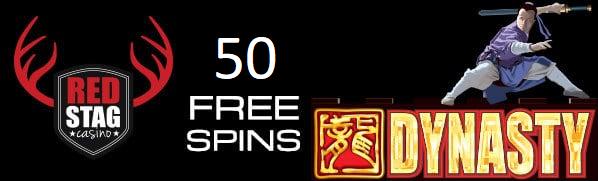 50 FREE SPINS - red stag bonus