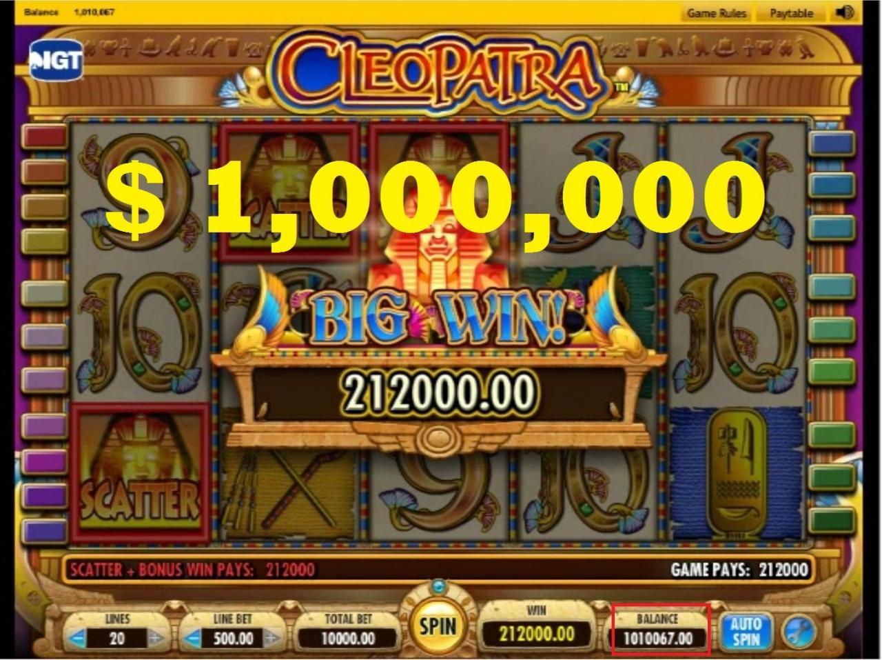 Casino Cleopatra slot fitore e madhe