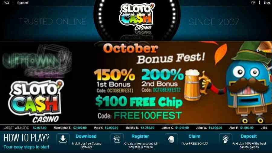 sloto cash bonus