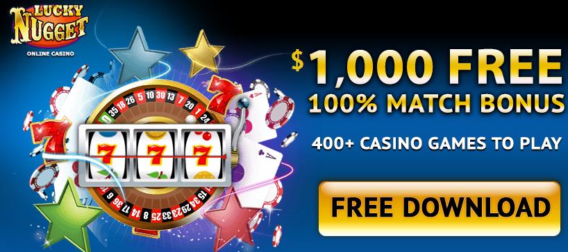 Lucky Nugget bonusa kazino