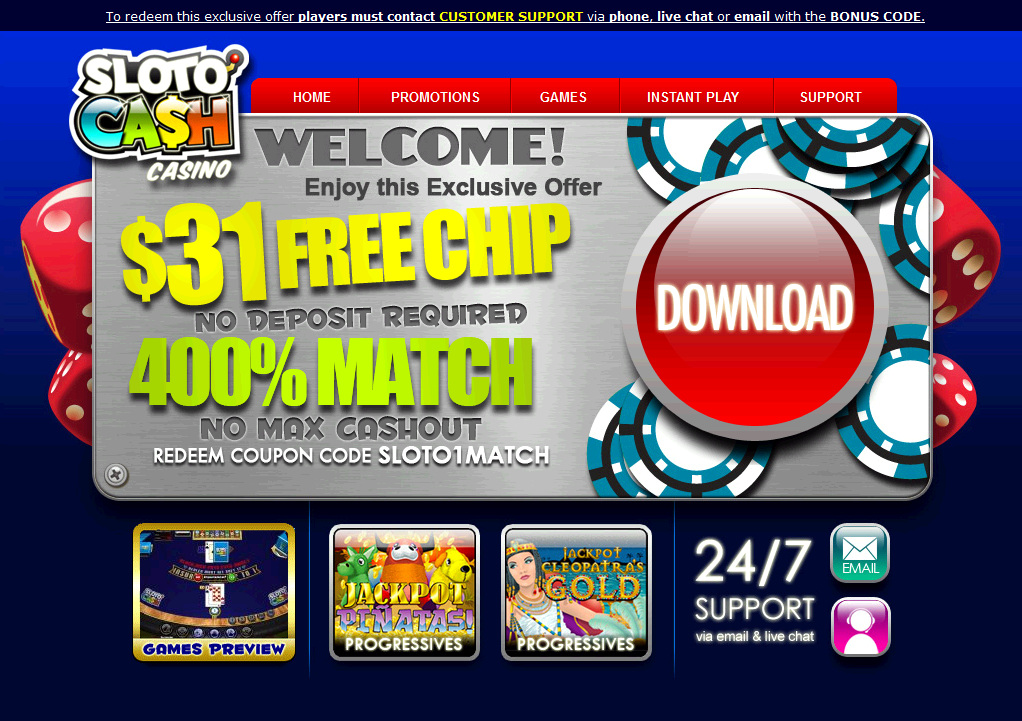 slotocash казино бонус