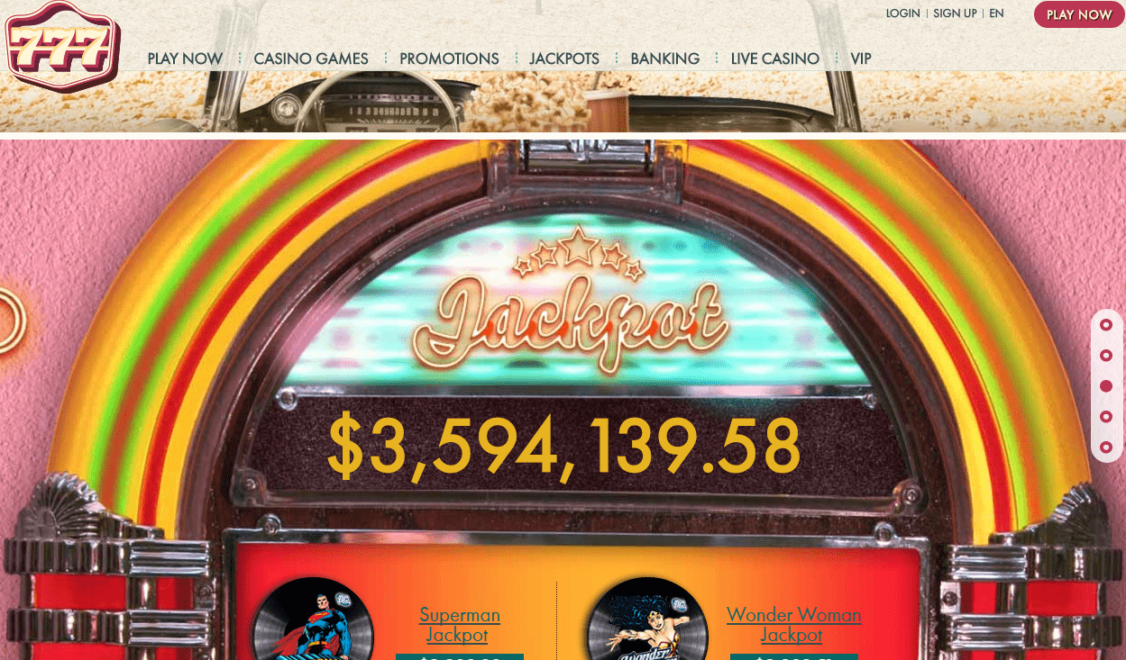 3,5 MILLION JACKPOT at 777 Casino. WIN NOW!! Welcome bonus included!. 777casino bonus