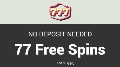 77 Free Spins at 777 Casino. No deposit needed!. 777casino bonus