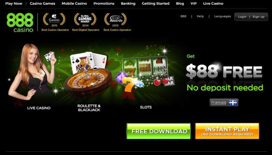 Get $88 Free. No Deposit Needed at 888 Casino Online