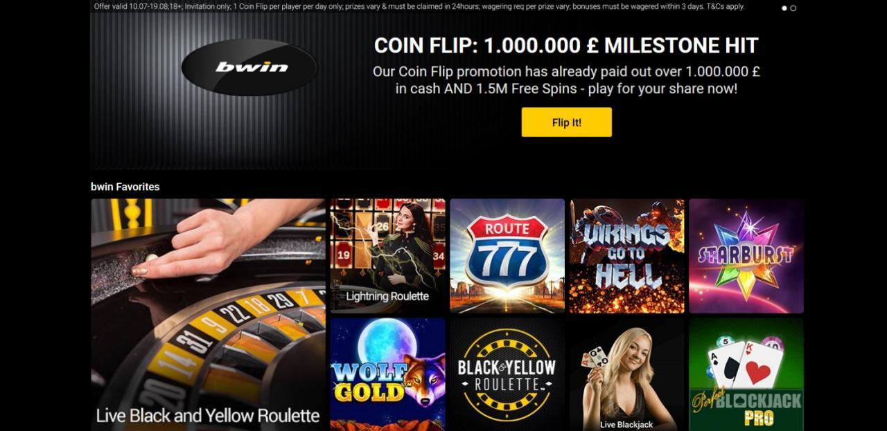 CoinFlip - bwin Casino Big Bonus
