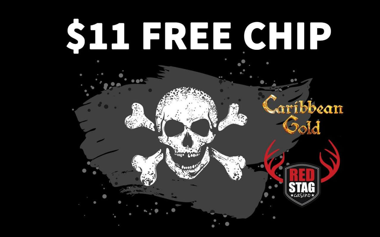 FREE CHIP at Red StagCasino in Carribean Gold Slot. red stag casino big bonus