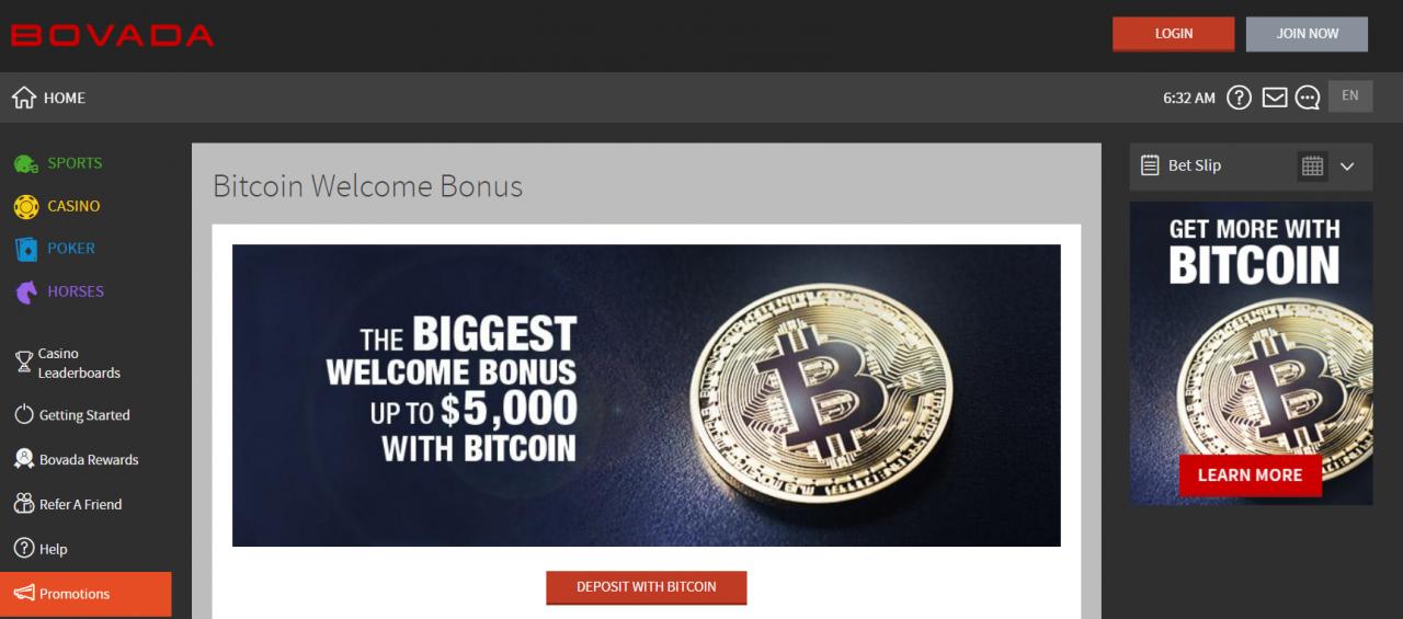 bovada bitcoin казиногийн урамшуулал