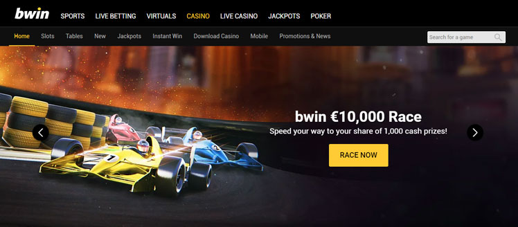 bWin €10,000 Race. Speed your way to your share of 1,000 cash prizes!
