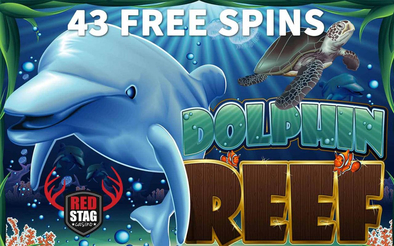 43 Free Spins at Red Stag Casino Online in Dolphin Reef Slot. red stag casino big bonus