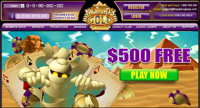 Mummy bonus de cazino de aur