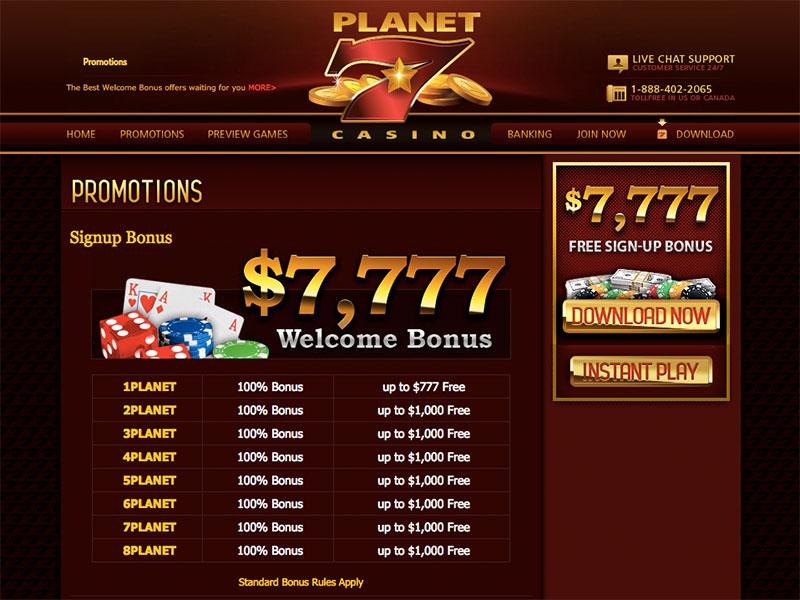 planet 7 bonus