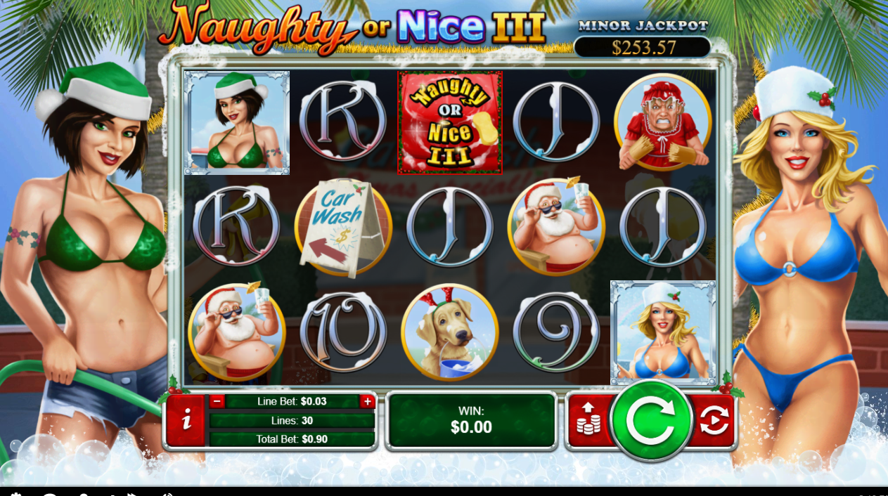 25 Trial Spins for NAUGHTY OR NICE III* at Australia Casino