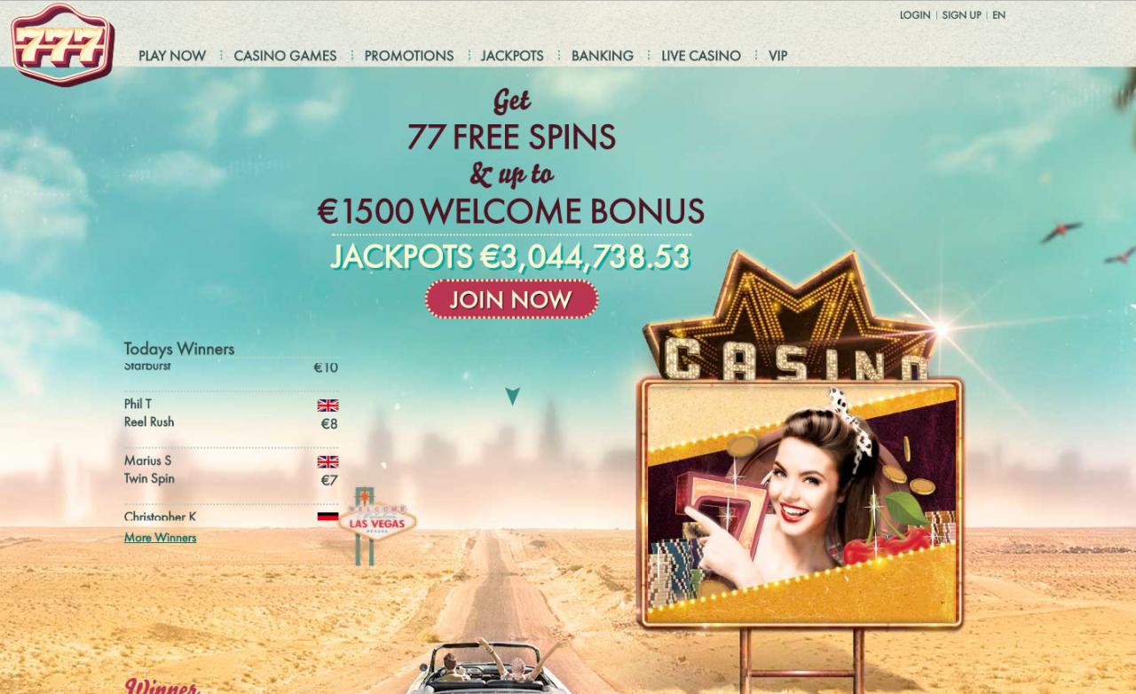 0 no deposit bonus at 777 Casino
