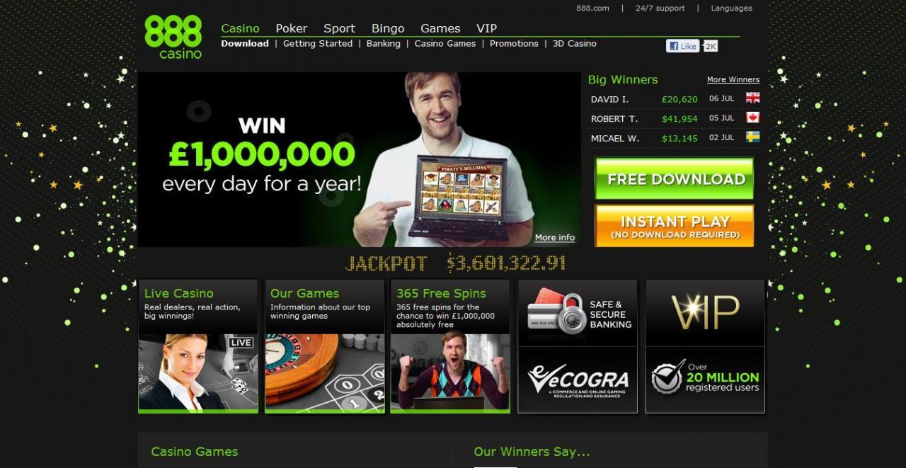 no deposit bonus for all new players at 888 Casino