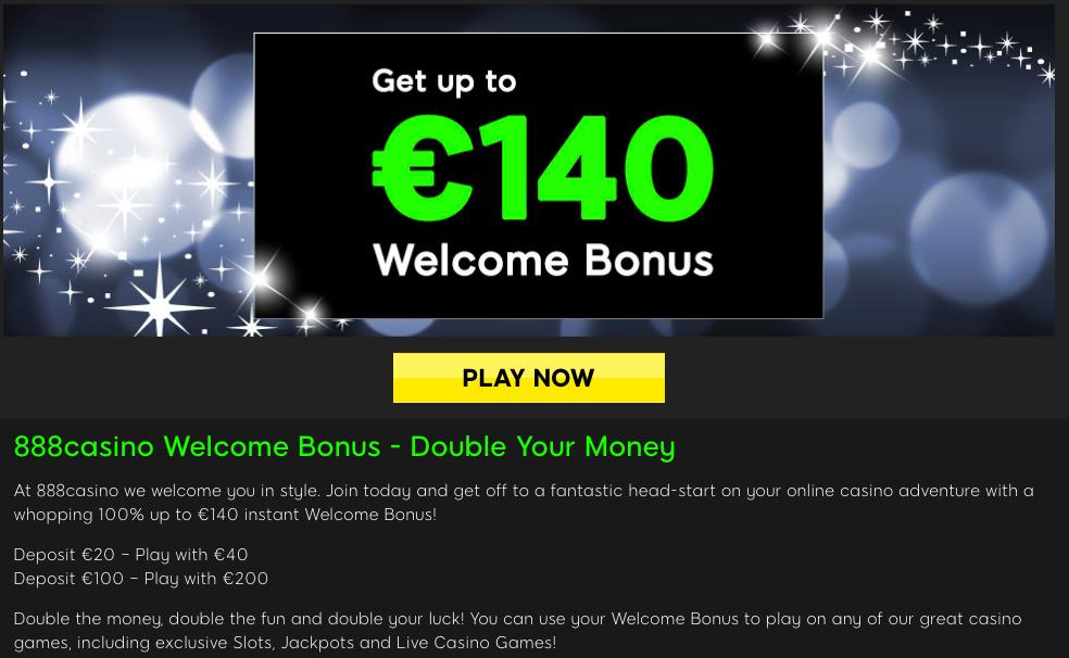 no deposit bonus at 888 Casino