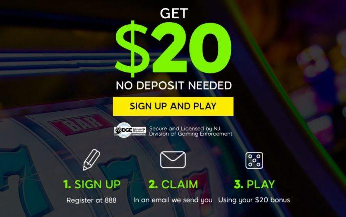 no deposit bonus + 1500% Welcome Bonus at 888 Casino