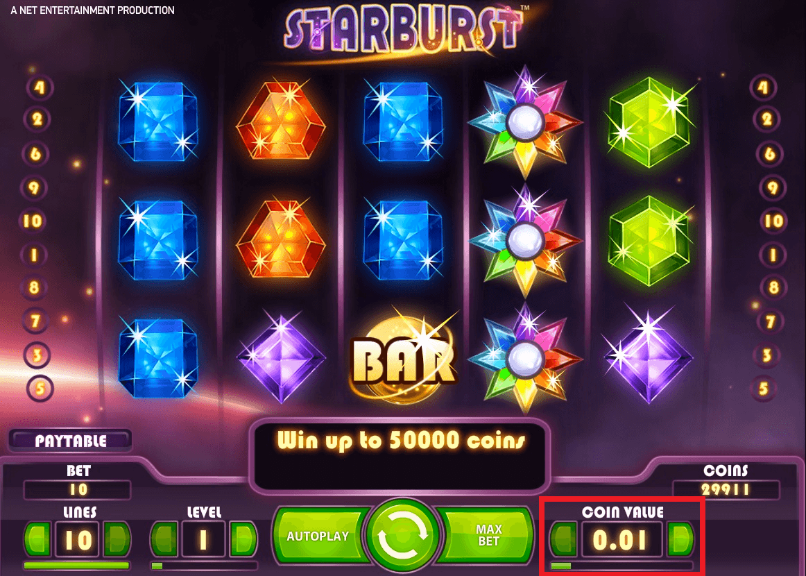 120 free spins on Starburst Slot at Party Casino