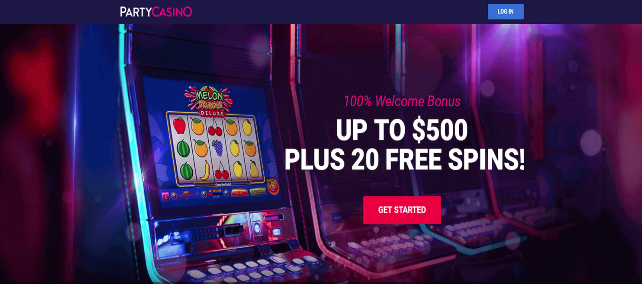 100% initial deposit bonus for up to £100.  25x Wagering Requirement at Party Casino!