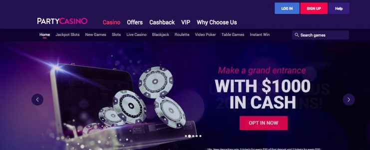 Up to 00 no deposit bonus + 10 free spins + 10 extra spins at Party Casino Online