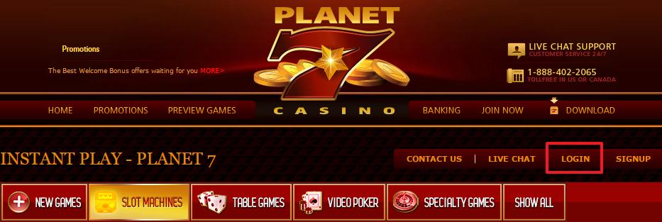 Planet 7 Mega Bonus - 40 Free Spins!