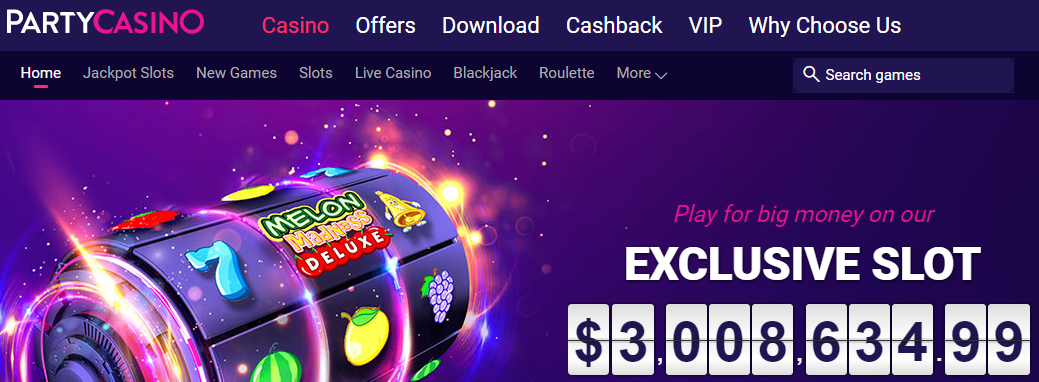 400 free spins from Party Casino