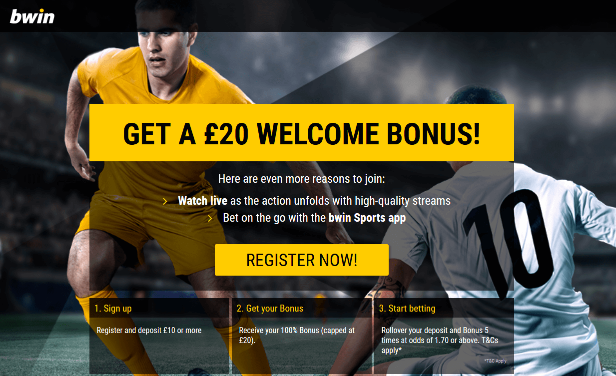 GET A £20 WELCOME BONUS at bWin